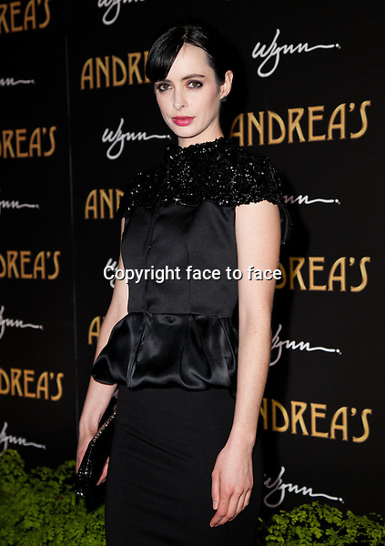 Krysten Ritter pictured at the grand opening of Andrea's at Encore at Wynn Las Vegas in Las Vegas, Nevada on January 16, 2013. ..Credit: MediaPunch/face to face..- Germany, Austria, Switzerland, Eastern Europe, Australia, UK, USA, Taiwan, Singapore, China, Malaysia and Thailand rights only -