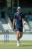 November 4th 2017, WACA Ground, Perth Australia; International cricket tour, Western Australia versus England, day 1; Stuart Broad measures his run up before the start of the tour match against Western Australia