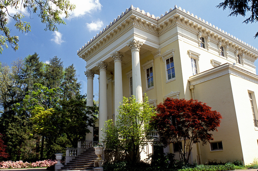 Evergreen House, historic home, Baltimore, Maryland, Evergreen House an 1850 Italianate mansion in Baltimore.
