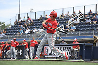 TEMPORARY UNEDITED FILE:  Image may appear lighter/darker than final edit - all images cropped to best fit print size.  <br /> <br /> Under Armour All-American Game presented by Baseball Factory on July 19, 2018 at Les Miller Field at Curtis Granderson Stadium in Chicago, Illinois.  (Mike Janes/Four Seam Images) Corbin Carroll is an outfielder from Lakeside High School in Seattle, WA committed to UCLA.