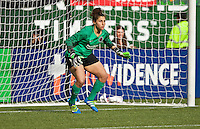 Portland, Oregon - Sunday October 2, 2016: Portland Thorns FC goalkeeper Michelle Betos (18) during a semi final match of the National Women's Soccer League (NWSL) at Providence Park.