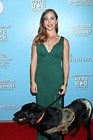 LOS ANGELES - OCT 5:  Caroline Zuendel and Sgt. Yeager at the 9th Annual American Humane Hero Dog Awards at the Beverly Hilton Hotel on October 5, 2019 in Beverly Hills, CA