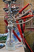 Hookah Pipe or Waterpipe in restaurant, Cairo, Egypt