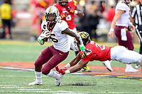 College Park, MD - SEPT 22, 2018: Minnesota Golden Gophers wide receiver Tyler Johnson (6) runs the football after a reception during game between Maryland and Minnesota at Capital One Field at Maryland Stadium in College Park, MD. The Terrapins defeated the Golden Bears 42-13 to move to 3-1 on the season. (Photo by Phil Peters/Media Images International)