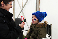 A general view of pre-match face paint for children. Anglo-Welsh Cup match, between Bath Rugby and Newcastle Falcons on January 27, 2018 at the Recreation Ground in Bath, England. Photo by: Patrick Khachfe / Onside Images