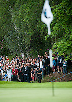 23.05.2015. Wentworth, England. BMW PGA Golf Championship. Round 3.  Emiliano Grillo [ARG] out of the rough at the 4th hole. during the third round of the 2015 BMW PGA Championship from The West Course Wentworth Golf Club