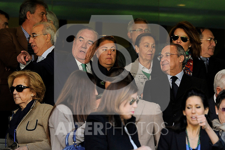 Real Madrid´s president Florentino Perez during 2014-15 La Liga match between Real Madrid and Granada at Santiago Bernabeu stadium in Madrid, Spain. April 05, 2015. (ALTERPHOTOS/Luis Fernandez)