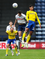 Preston North End's Andrew Hughes battles with Birmingham City's Jude Bellingham<br /> <br /> Photographer Alex Dodd/CameraSport<br /> <br /> The EFL Sky Bet Championship - Leeds United v Barnsley - Thursday 16th July 2020 - Elland Road - Leeds<br /> <br /> World Copyright © 2020 CameraSport. All rights reserved. 43 Linden Ave. Countesthorpe. Leicester. England. LE8 5PG - Tel: +44 (0) 116 277 4147 - admin@camerasport.com - www.camerasport.com<br /> <br /> Photographer Alex Dodd/CameraSport<br /> <br /> The EFL Sky Bet Championship - Preston North End v Birmingham City - Saturday 18th July 2020 - Deepdale Stadium - Preston<br /> <br /> World Copyright © 2020 CameraSport. All rights reserved. 43 Linden Ave. Countesthorpe. Leicester. England. LE8 5PG - Tel: +44 (0) 116 277 4147 - admin@camerasport.com - www.camerasport.com