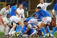 """Andrea Masi Italia.Roma 11/02/2012 Stadio """"Olimpico"""".Rugby 6 Nations Tournament - Torneo delle 6 Nazioni 2012.Italia Vs Inghilterra - Italy Vs England .Foto Insidefoto Andrea Staccioli"""