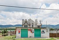 postvernacular-polyarchitecture in the Mazahua indigenous community near San Felipe del Progreso, in the Estado de mexico, Mexico