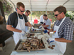 Annual St. Sava goat barbecue and buffet lunch, St. Sava Serbian Orthodox Church, Jackson