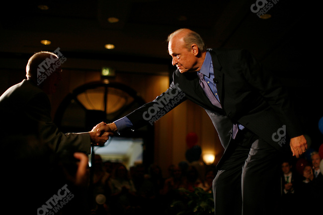 Former Senator Fred Thompson (R - TN), 2008 Republican candidate for President, addresses supporters at the Greenville Marriott. Greenville, South Carolina, September 10, 2007.