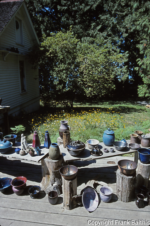 pottery in Crow Valley on Orcas Island