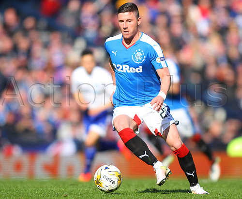 10.04.2016. Hampden Park, Glasgow, Scotland. Petrofac Training Cup Final. Rangers versus Peterhead. Michael O'Halloran