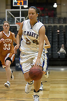 SAN ANTONIO, TX - JANUARY 6, 2007: The University of Texas of the Permian Basin Falcons vs. the St. Mary's University Rattlers Women's Basketball at Bill Greehey Arena. (Photo by Jeff Huehn)