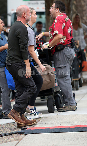 "PHILADELPHIA, PA - OCTOBER 6 : Bruce Willis pictured coming to a house in South Philly to film ""Glass"" in Philadelphia, Pa on October 6, 2017    photo credit Star Shooter/MediaPunch"