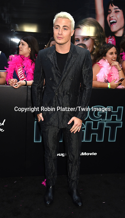 Colton Haynes attends the &quot;Rough Night&quot; World Premiere on June 12, 2017 at AMCLowes Lincoln Square 13 in New York, New York, USA.<br /> <br /> photo by Robin Platzer/Twin Images<br />  <br /> phone number 212-935-0770