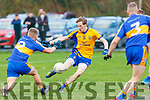 Ronan Ferris Beaufort scores a goal for Beaufort despite the best efforts of Tadgh Geoghegan Michael Cusacks during their Munster semi final in Beaufort on Sunday