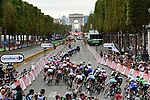 The peloton on Champs-Elysees during Stage 21 of the 2018 Tour de France running 116km from Houilles to Paris Champs-Elysees, France. 29th July 2018. <br /> Picture: ASO/Pauline Ballet | Cyclefile<br /> All photos usage must carry mandatory copyright credit (&copy; Cyclefile | ASO/Pauline Ballet)