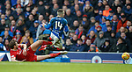 01.02.2020 Rangers v Aberdeen: Ash Taylor goes through Ryan Kent