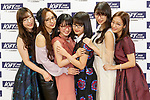 Members of the idol group ''Morning Musume 18'' attend a photo call for the 31st Japan Best Dressed Eyes Awards at Tokyo Big Sight on October 22, 2018, Tokyo, Japan. The event featured Japanese celebrities who were recognized for their fashionable eyewear during the International Optical Fair Tokyo (IOFT) 2018. (Photo by Rodrigo Reyes Marin/AFLO)