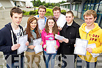 Students from Mounthawk Secondary School, who got their Leaving Cert results on Wednesday, from left: Gregory Cronin, Olivera Ivkovic, Micheál Maher, Siobhan Ryle, Jamie Sugrue, James Culloty and Conor Nolan..