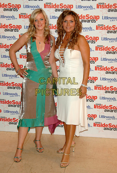 GUESTS.Inside Soap Awards 2005 at Floridita London, WI, London..September 26th, 2005.full length hand on hip green dress white plunging neckline dress.www.capitalpictures.com.sales@capitalpictures.com.©Capital Pictures