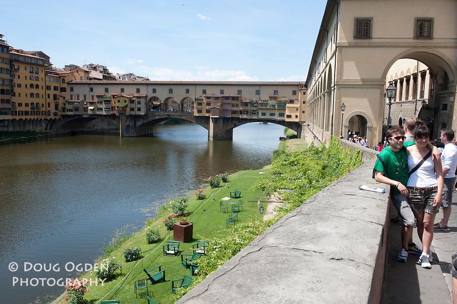 Ponte Vecchio over the Arno River, Florence, Italy