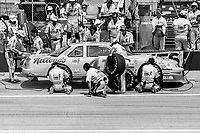#41 Chevrolet driven by  driven by Greg Sacks makes a pit stop during the DieHard 500, NASCAR Winston Cup race, Talladega Superspeedway, July 26, 1992.  (Photo by Brian Cleary/bcpix.com)