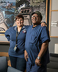That's My Job: Janine Kirin, director of the research support facility, with JD Davis,  the animal caretaker at DePaul's College of Science and Health, and has been with the university since 2002. (DePaul University/Jamie Moncrief)