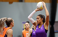 24.08.2017 Silver Ferns Maria Tutaia in action during at the Silver Ferns training in Brisbane. Mandatory Photo Credit ©Michael Bradley.