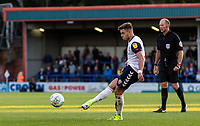 Bolton Wanderers' Dennis Politic takes a free kick<br /> <br /> Photographer Andrew Kearns/CameraSport<br /> <br /> The Carabao Cup First Round - Rochdale v Bolton Wanderers - Tuesday 13th August 2019 - Spotland Stadium - Rochdale<br />  <br /> World Copyright © 2019 CameraSport. All rights reserved. 43 Linden Ave. Countesthorpe. Leicester. England. LE8 5PG - Tel: +44 (0) 116 277 4147 - admin@camerasport.com - www.camerasport.com