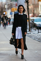 Leigh Lezark attends Day 4 of New York Fashion Week on Feb 15, 2015 (Photo by Hunter Abrams/Guest of a Guest)