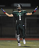 Lindenhurst linebacker No. 1 Jeremy Ruckert reacts after recording a sack in the second quarter of a Suffolk County Division I varsity football game against Connetquot at Lindenhurst Middle School on Friday, September 18, 2015.<br /> <br /> James Escher