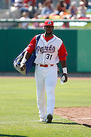 Yusuf Carter  -  Stockton Ports playing against the Bakersfield Blaze at Banner Island Ballpark, Stockton, CA - 05/20/2009.Photo by:  Bill Mitchell/Four Seam Images