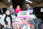 Gillian Taylor-Smyth with Mike McDonald, Beth Taylor and Tony Taylor-Smyth from Help for Humans loading up the truck for with donated clothes in farranfore on Saturday