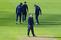 Essex CCC head coach Anthony McGrath inspects the pitch during Yorkshire CCC vs Essex CCC, Specsavers County Championship Division 1 Cricket at Emerald Headingley Cricket Ground on 16th April 2018