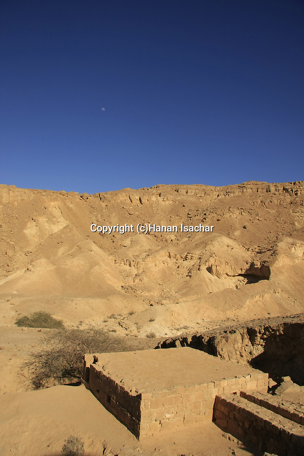 Israel, Negev, Nekarot cistern on the ancient Incense Route, a World Heritage Site