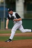 February 21, 2010:  Pitcher Robbie Powell (16) of the Stetson Hatters during the teams opening series at Melching Field at Conrad Park in DeLand, FL.  Photo By Mike Janes/Four Seam Images