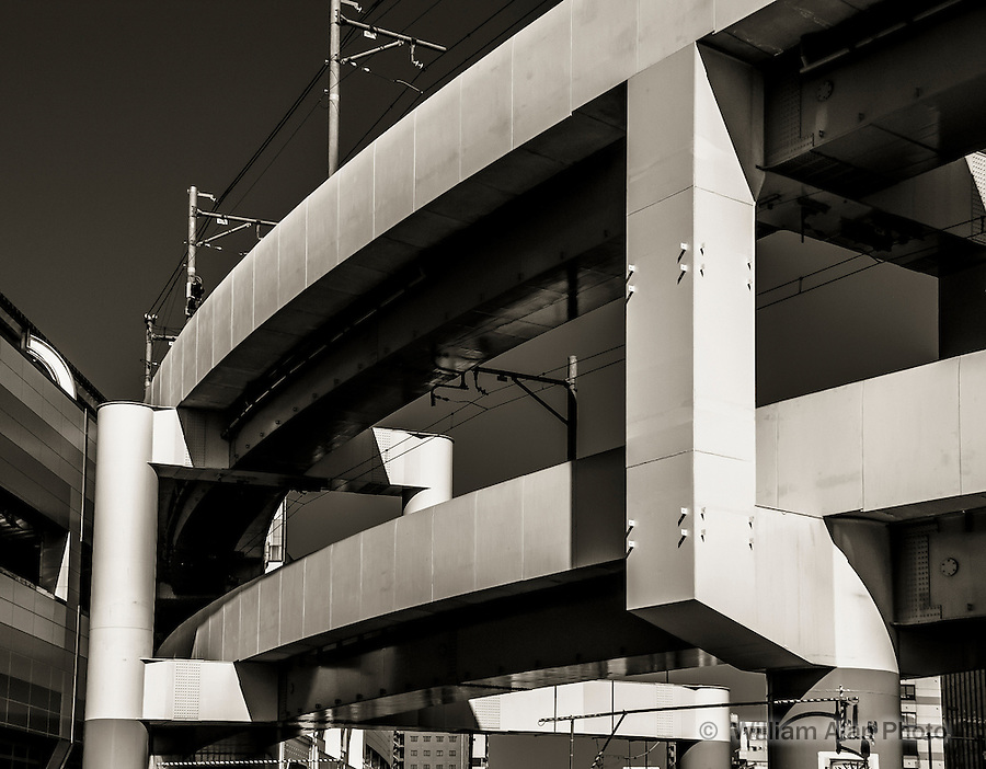 Train Overpass in Ota, Japan 2014.