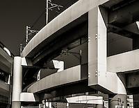 Train Overpass in Ota, Japan 2014.