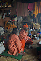 Sadu living Quarters at Pashupatinath Cremation and Temple Area in Kathmadu, Nepal