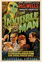 Rare movie poster for the classic 1933 film The Invisible Man sells for an incredible £150k