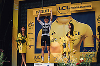 Picture by Russell Ellis/russellis.co.uk/SWpix.com - image archived on 25/04/2019 Cycling Tour de France 2018 - Team Sky at the Tour de France - STAGE 20: SAINT-PÉE-SUR-NIVELLE - ESPELETTE 28/07/2018 ITT Individual Time Trial<br /> - Geraint Thomas