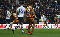 Preston North End's Graham Burke shoots wide with this shot from outside the penalty area<br /> <br /> Photographer Stephen White/CameraSport<br /> <br /> The EFL Sky Bet Championship - Preston North End v Hull City - Wednesday 26th December 2018 - Deepdale Stadium - Preston<br /> <br /> World Copyright &copy; 2018 CameraSport. All rights reserved. 43 Linden Ave. Countesthorpe. Leicester. England. LE8 5PG - Tel: +44 (0) 116 277 4147 - admin@camerasport.com - www.camerasport.com