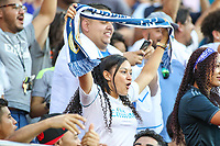 Landover, MD - August 4, 2018: A Real Madrid fan during the match between Juventus and Real Madrid at FedEx Field in Landover, MD.   (Photo by Elliott Brown/Media Images International)