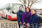 Joanne Healy, Killarney, Haley Sheehan and Charlotte O'Shea, Killorglin who will be affected if the Bus Strike goes ahead.