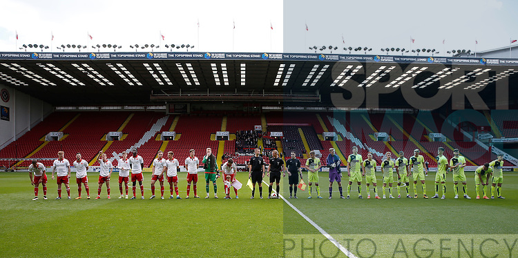 Sheffield Utd and Huddersfield Town teams line up during the PDL U21 Final at Bramall Lane Sheffield. Photo credit should read: Simon Bellis/Sportimage