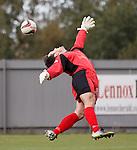 Ryan Conroy's goal sails past Dumbarton keeper Jamie Ewings
