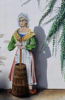 Europe/France/Normandie/Basse-Normandie/50/Manche/Lessay: Fromagerie du Val d'Ay (Camemberts au lait cru) - Mur peint